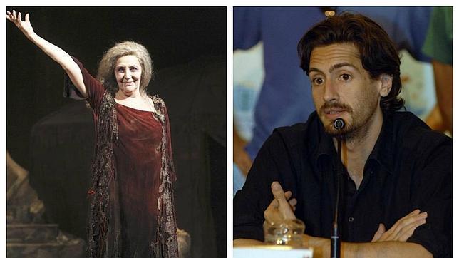 Concha Velasco, durante la obra; a la derecha, el actor Juan Diego Botto