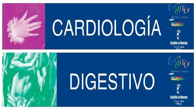 Los originales carteles que se van a instalar en los hospitales y centros de salud para celebrar el Año Greco