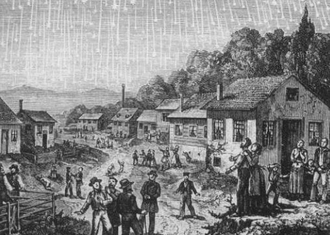 Tormenta de Leónidas de 1833