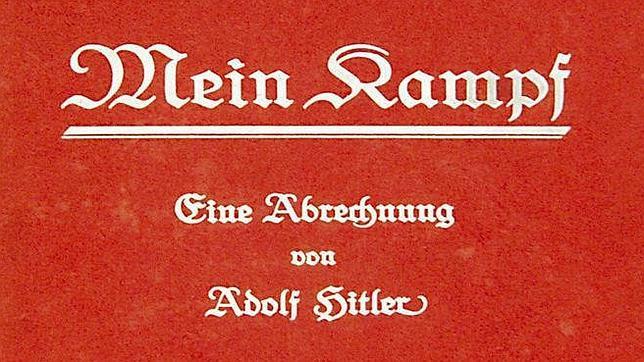 Un ejemplar de la primera edición del libro «Mein Kampf» (Mi lucha) de Adolf Hitler