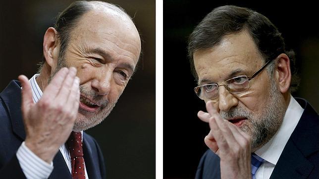 Lo que Rajoy y Rubalcaba revelaron con sus gestos en el Debate sobre el estado de la Nación