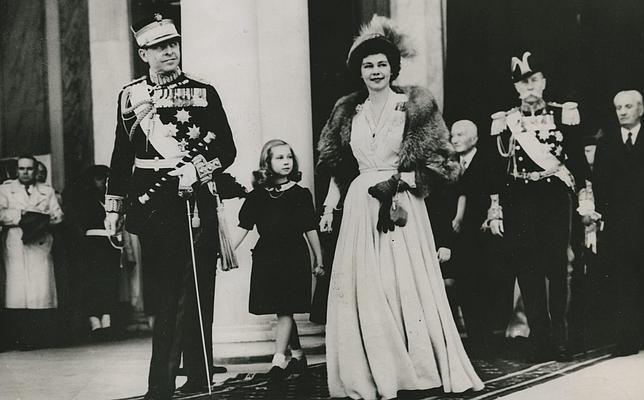 La Familia Real griega, reunida en Atenas