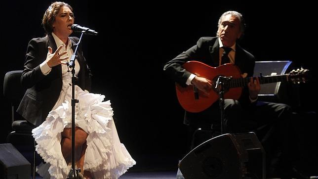 Estrella Morente durante una de sus actuaciones en 2013