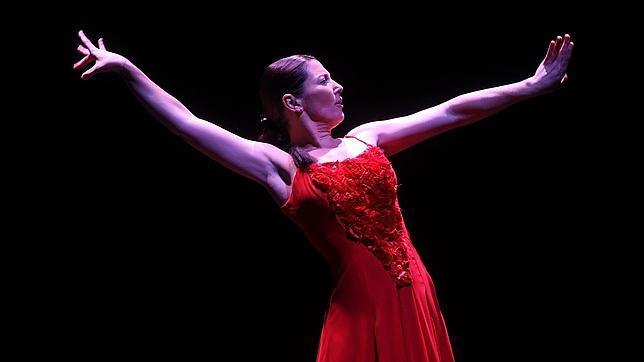 Sara Baras interpretando «La Pepa» enel Gran Teatro de Córdoba en 2013
