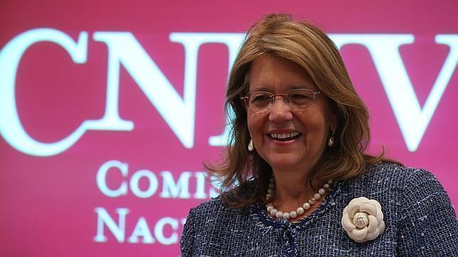 La presidenta de la CNMV, Elvira Rodríguez