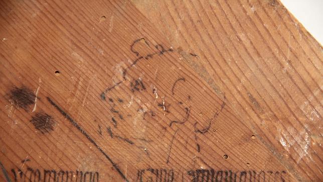Segundo rostro hallado tras el retablo de la iglesia de Torrelaguna