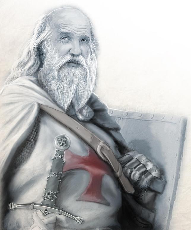 Ilustración sobre Jacques Bernard de Molay
