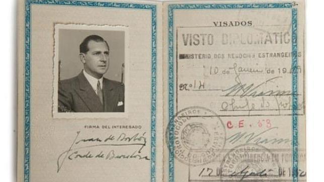 Sale a subasta el pasaporte del Conde de Barcelona