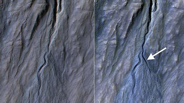 La NASA descubre un nuevo barranco en Marte
