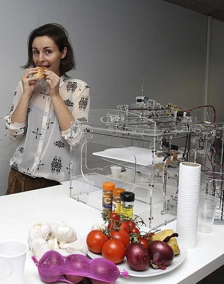 Una impresora 3D que fabrica alimentos