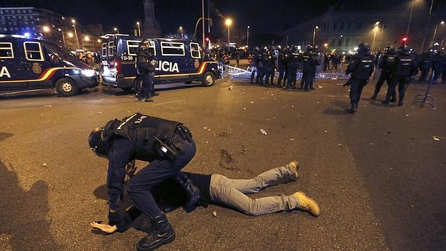 La DGP destaca el «especial salvajismo de los ataques» por parte de un grupo de manifestantes