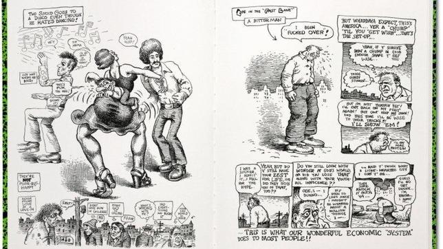 Páginas con dibujos de Robert Crumb pertenecientes al lanzamiento de ...