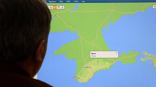 Crimea trae de cabeza a los cartógrafos