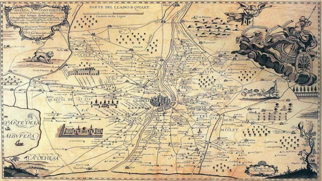 Así es el mapa de la Valencia de 1695 que Napoleón mandó buscar para invadir la ciudad