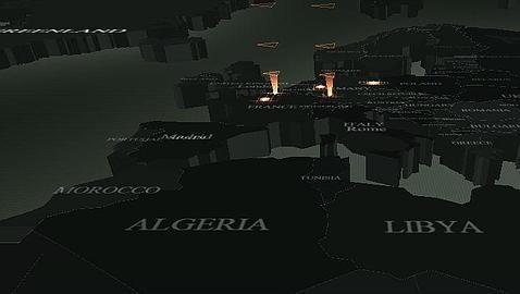 Asombroso: la ciberguerra en el mundo en tiempo real