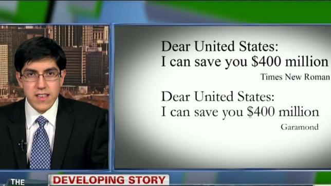 El consejo de un joven a Obama: cambiar el tipo de letra para ahorrar millones de dólares