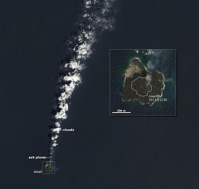 Una nueva isla nacida en el Pacífico «devora» a otra más antigua