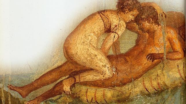 Fresco de dos amantes en la Casa del Centenario