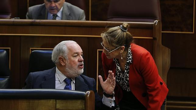 Arias Cañete ocupa su escaño en el Congreso