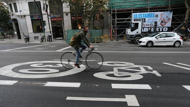 Ciclocarril en Madrid. (Foto: ABC)
