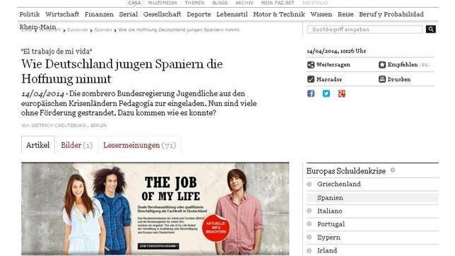 La prensa alemana acusa a Merkel de «robar la esperanza a los jóvenes españoles»