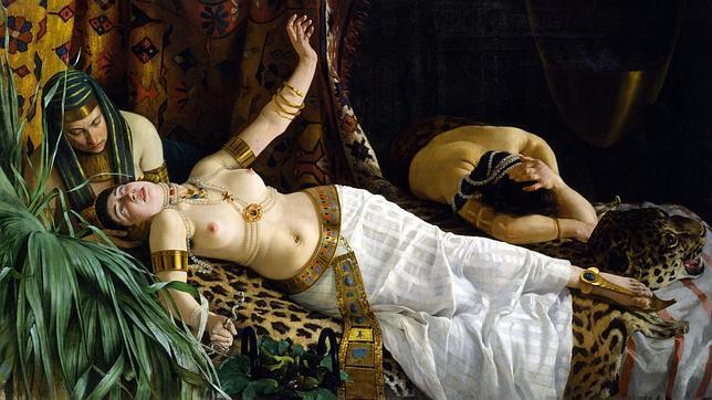 «La muerte de Cleopatra» (1878), de Achille Glisenti