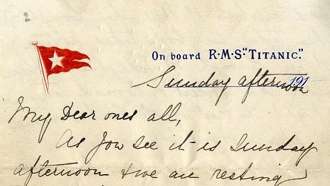 Una carta del Titanic vendida en un precio récord de 144.000 euros