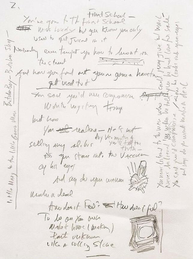 El manuscrito de «Like a Rolling Stone», vendido por 1,4 millones de euros