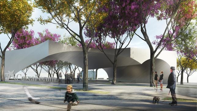 Recreación virtual del futuro CaixaForum Sevilla
