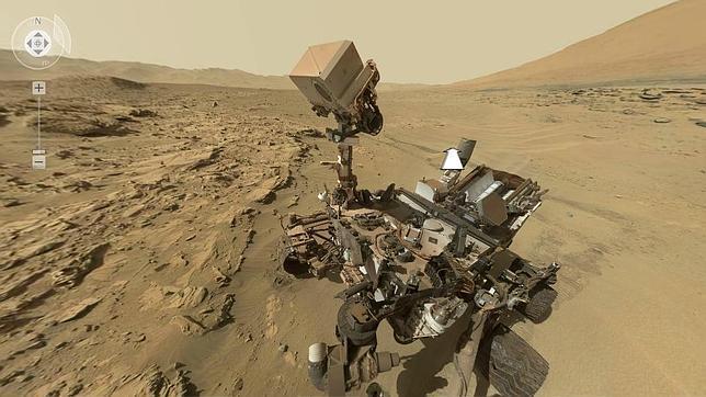 Impresionante «selfie» del Curiosity en Marte en 360º