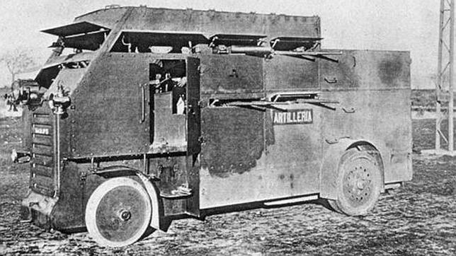 «Schneider-Brillié», el primer «autobús» blindado del Ejército Español que luchó en Marruecos