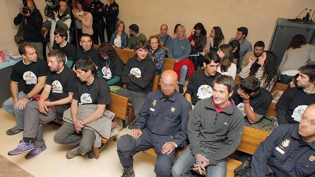 Un momento del juicio a los doce independentistas