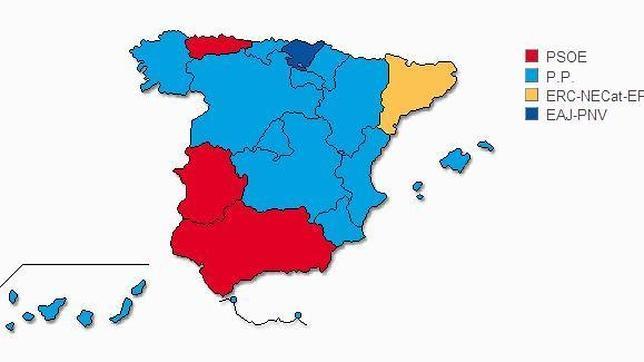 Resultados provisionales por Comunidades Autónomas en las Elecciones Europeas 2014