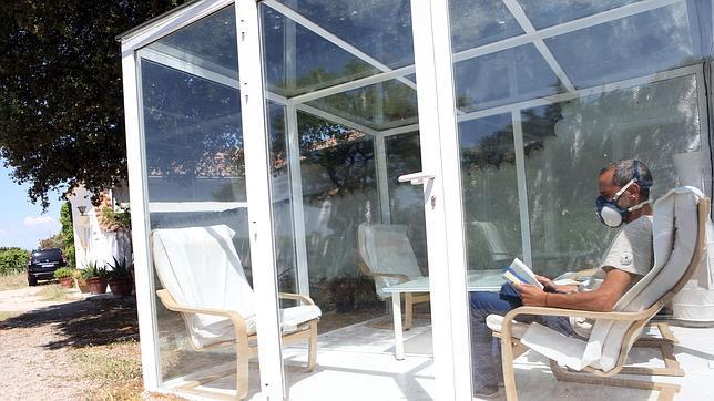 Rubén Franch en una de las zonas aisladas de la Fundación Alborada de Madrid