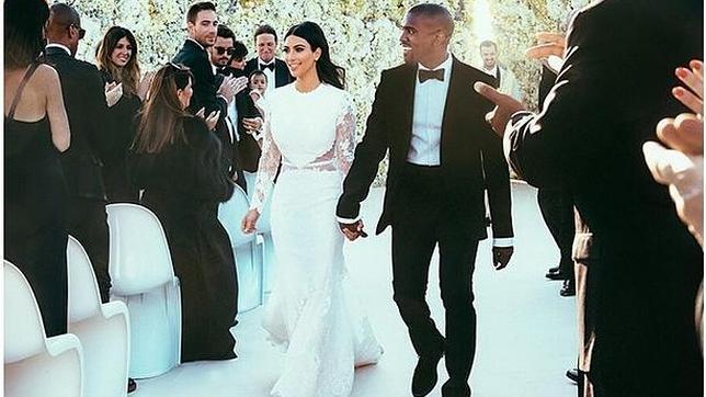 Así fue el vestido de novia de Kim Kardashian