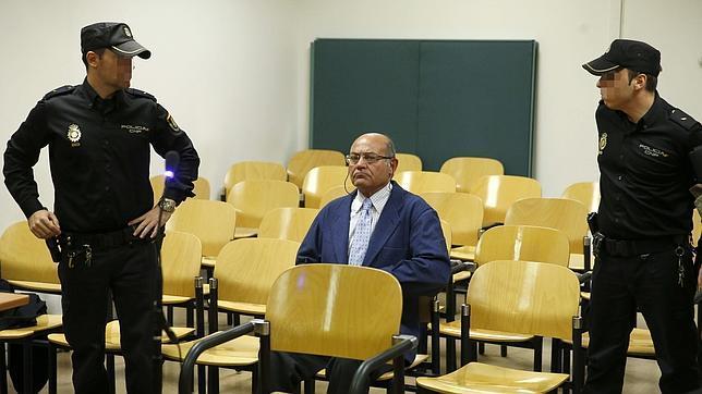 El ex presidente de la CEOE, Gerardo Díaz Ferrán, durante el juicio