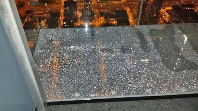 El mirador de la Torre Willis, roto