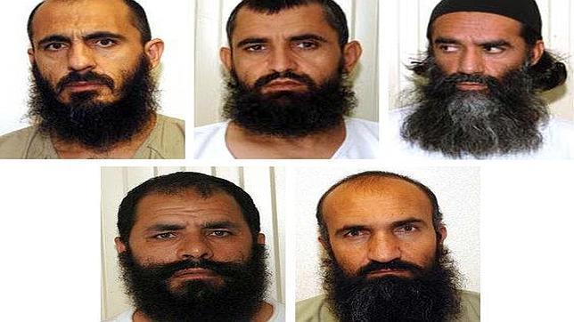 Estos son los cinco talibanes liberados de Guantánamo