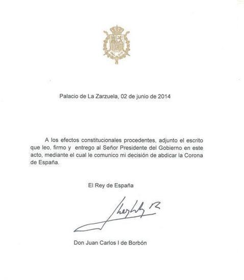 En directo: Felipe VI será coronado antes de un mes