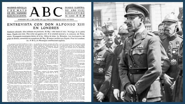 La histórica entrevista de ABC a Alfonso XIII tras dejar de ser Rey