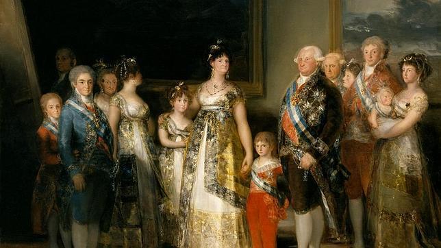 La familia de Carlos IV, con el futuro Fernando VII a la izquierda