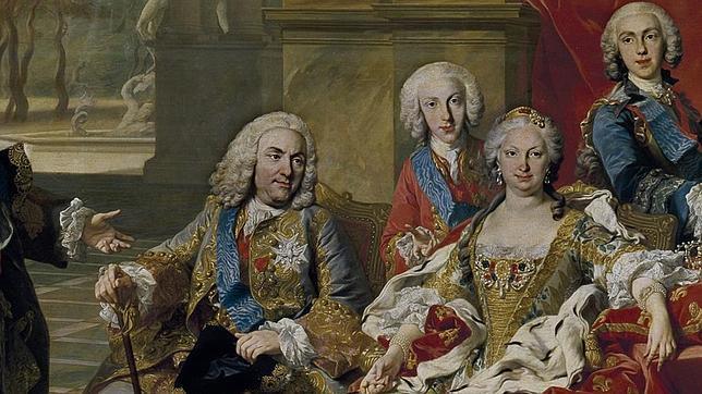 Detalle del cuadro «La familia de Felipe V» (1743)