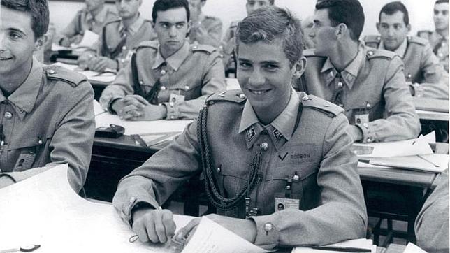 El futuro Rey Felipe VI durante su formación en la Academia General Militar de Zaragoza