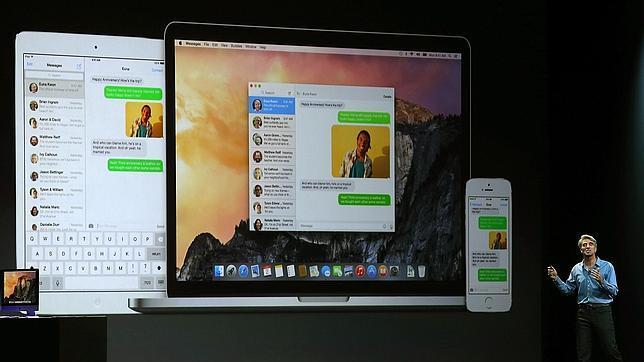 Apple anuncia su nuevo OSX Yosemite, un «puente» entre dispositivos