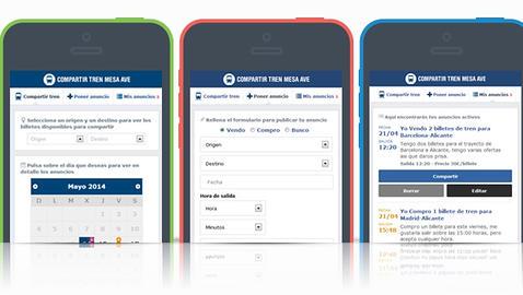 Crean una app de Facebook para ahorrar con la «tarifa mesa» en el AVE