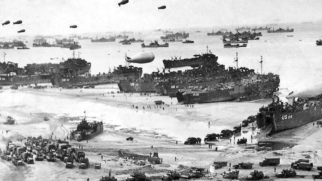 Fotografía histórica del desembarco de Normandía