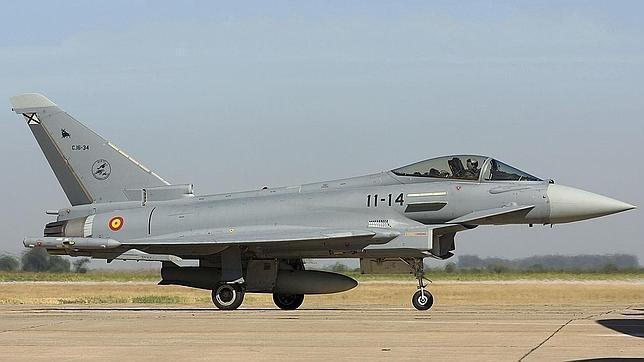 El Eurofighter siniestrado se precipitó «en picado» e iba armado con dos misiles