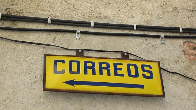 Cartel antiguo de Correos