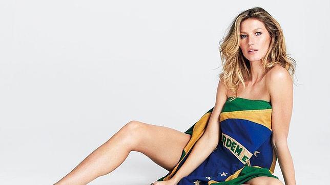 Semidesnuda y con bandera: Gisele Bündchen celebra el Mundial