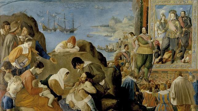 La recuperación de Bahía por Fadrique Álvarez de Toledo y Mendoza, óleo sobre tela de fray Juan Bautista Maíno